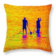 Paddle Board Paradise Throw Pillow