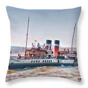 Paddle Steamer Waverley Throw Pillow
