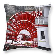 Paddle Wheel Throw Pillow by Tom and Pat Cory