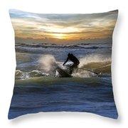 Natutical Jesus Throw Pillow