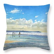 Paddling At The Edge Throw Pillow