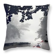 Paddling Towards The Unknown Throw Pillow