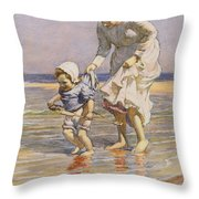 Paddling Throw Pillow by William Kay Blacklock