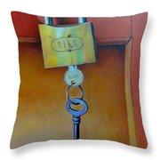 Padlocked Throw Pillow by Al Bourassa