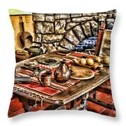 Padre's Table By Diana Sainz Throw Pillow