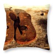 Paduka Throw Pillow by Ankeeta Bansal