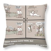 Page 59 Feral Coots Throw Pillow