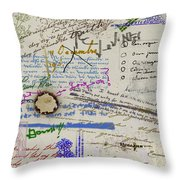 Page From The Madwoman's Notebook Throw Pillow