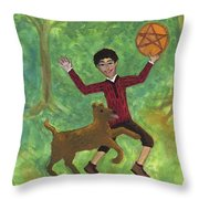Page Of Pentacles Throw Pillow