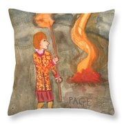 Page Of Wands Throw Pillow
