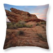 Page Sunrise Rock Throw Pillow
