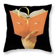 Page-turner Throw Pillow