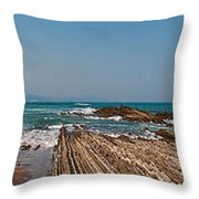 Pages Into The Sea No1 Throw Pillow