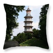 Pagoda I - Dessau Woerlitz Throw Pillow