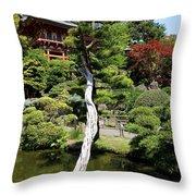 Pagoda On The Lake Throw Pillow