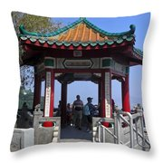 Pagoda Pavilion Throw Pillow