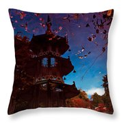 Pagoda Reflection Throw Pillow