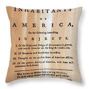 Paine: Common Sense, 1776 Throw Pillow by Granger