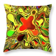 Paint Ball Color Explosion Throw Pillow by Andee Design