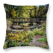 Paint Creek Bridge Throw Pillow