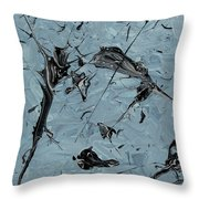 Paint Fossils Throw Pillow
