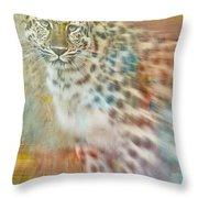 Paint Me A Cheetah Throw Pillow