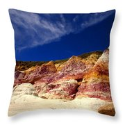 Paint Mines Beauty Throw Pillow