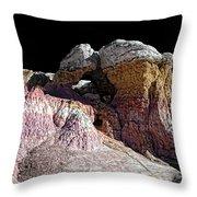 Paint Mines IIi-the Vertex Throw Pillow