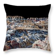 Paint Mines Iv-a Time Of Division Throw Pillow