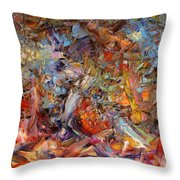 Paint Number 43a Throw Pillow by James W Johnson