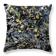 Paint Number Eleven Throw Pillow
