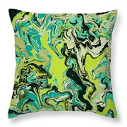 Paint Number Fifty Three Throw Pillow
