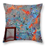 Paint Number Forty Throw Pillow