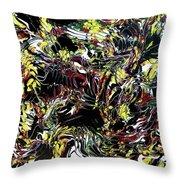 Paint Number Thirteen Throw Pillow