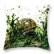 Paint Sculpture And Snail 3 Throw Pillow