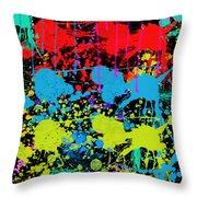 Paint Splatter - Black Throw Pillow
