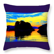 Painting The High Sky And The Deep Sea  Throw Pillow