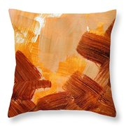 Painted Background Texture Throw Pillow