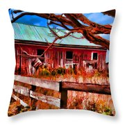 Painted Barn Throw Pillow