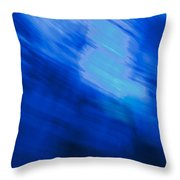 Painted Blue Throw Pillow