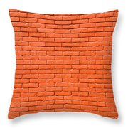 Painted Brick Wall Throw Pillow