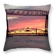 Painted Bridge Throw Pillow