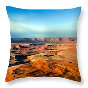 Painted Canyonland Throw Pillow