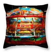 Painted Casino Throw Pillow