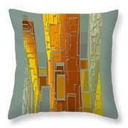 Painted City - Fantasy Cityscape Throw Pillow