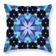 Painted Cymatics 108.00hz Throw Pillow