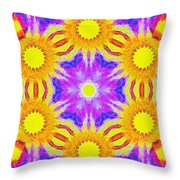 Painted Cymatics 161.66hz Throw Pillow