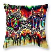 Carnival Dancers Throw Pillow