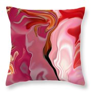Painted Face's Throw Pillow
