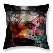 Painted Faces Success Races  Throw Pillow
